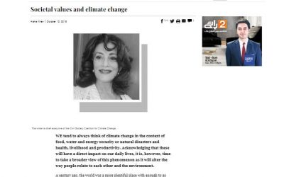 Societal values and climate change
